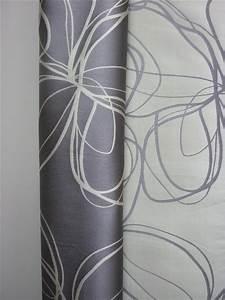 Vorhang Grau Blickdicht : deko stoff gardine vorhang modern gemustert silber grau blickdicht meterware ebay ~ Orissabook.com Haus und Dekorationen