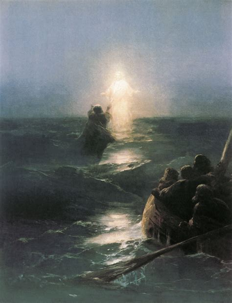Jesus and Peter Walk On Water