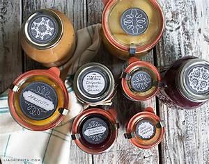 printable chalkboard style freezer canning jar labels With jam lid labels