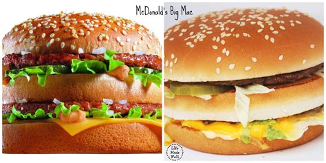fast cuisine big mac fast food appearance vs made