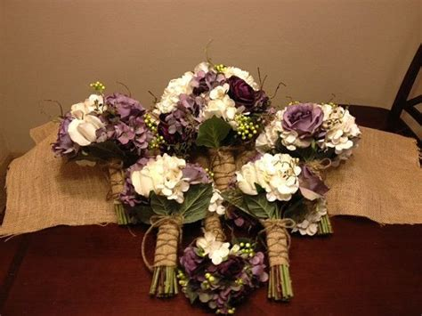 real touch wedding flower package  eggplant ranunculus