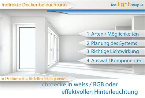 Deckenbeleuchtung Küche Planen by Indirekte Beleuchtung Mit Led Strips In Rgb Und Weiss