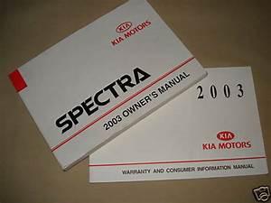 2003 Kia Spectra Gs Gsx Ls Sedan Hatch Owners Manual 03