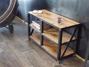 Etagere Bois Design : etag re bois m tal roulettes sur mesure micheli design ~ Teatrodelosmanantiales.com Idées de Décoration