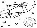 Coloring Satellite Space Getcolorings Printable sketch template