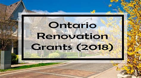 Ontario Renovation Grants (2018)
