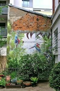 green renaissance paint  mural   yard