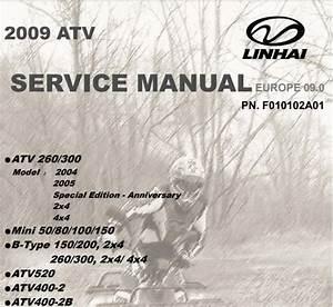 2009 Linhai Atv Service Manual Multiple Models