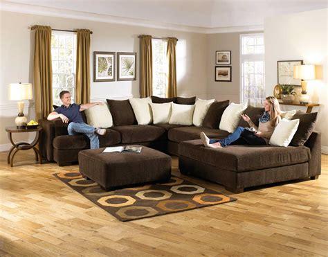 really big sectional sofas jackson axis large sectional sofa set chocolate jf 4429