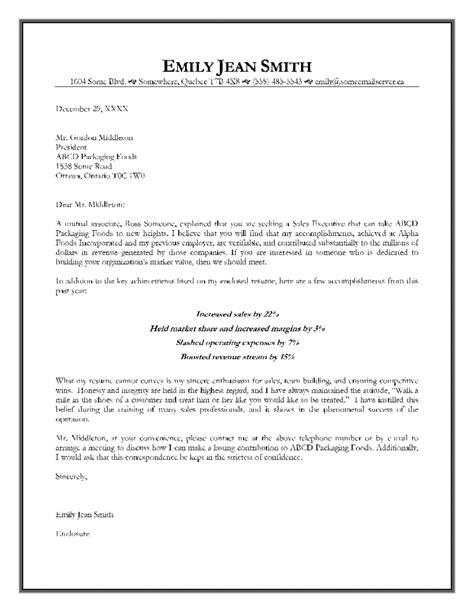 senior executive cover letter exles