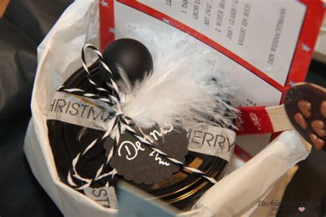 weihnachtsgeschenk für kleine geschenke im glas tischlein deck dich
