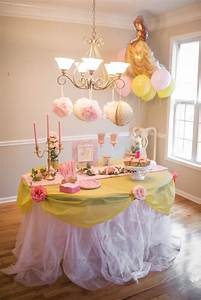 Belle's Beauty and the Beast Themed Birthday Party