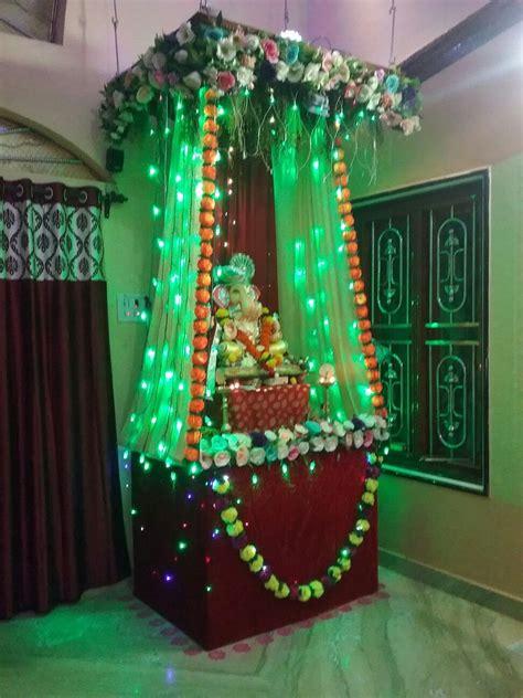 ganesh chaturthi decoration at my home
