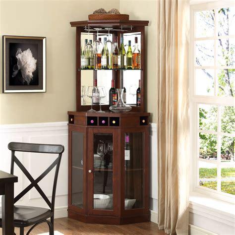 cherry corner bar cabinet accents