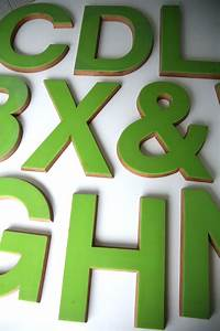 large green plastic and wood shop letters cream and chrome With large plastic alphabet letters
