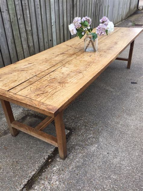 Antique large ash Normandy farmhouse table, Antique