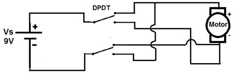 Dc Motor Switch Wiring Diagram by How Is A Dpdt Switch Used For Reversing The Motion Of An