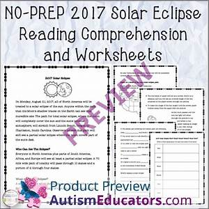 No Prep 2017 Solar Eclipse Reading Comprehension And