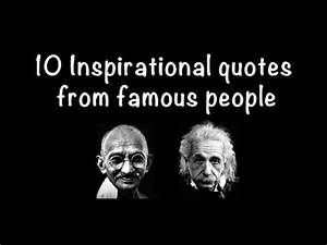 10 Inspirational quotes from famous people - YouTube