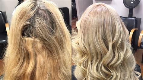 hair extension transformation color retouch  partial