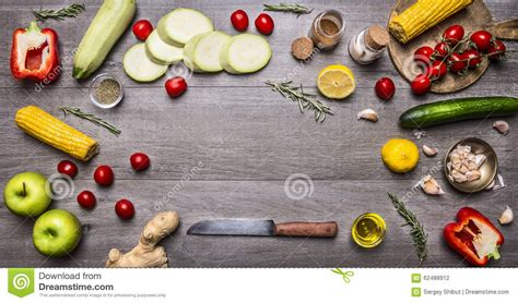 cuisine concept ingredients for cooking vegetarian food colorful various