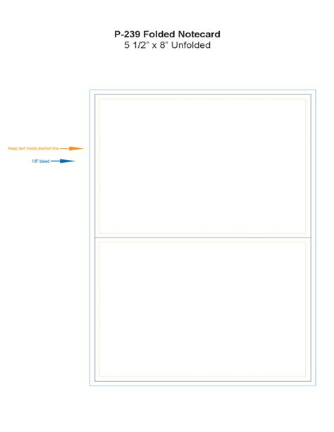 folded note card template