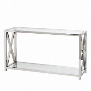 Beistelltisch Glas Edelstahl : konsolentisch glastisch edelstahl glas bartisch beistelltisch tisch neu ebay ~ Indierocktalk.com Haus und Dekorationen