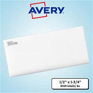 Averyr easy peelr laser mailing labels 1 2quot x 1 3 4quot white for 2 x 3 mailing labels
