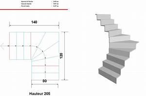 Escalier Quart Tournant Gauche : aide au calcul de mon escalier quart tournant bas svp ~ Dailycaller-alerts.com Idées de Décoration