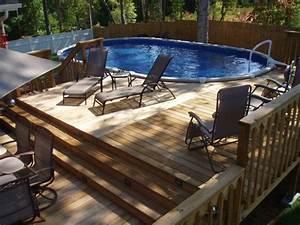 piscine hors sol les top 5 avantages et idees en photos super With amenagement paysager avec piscine creusee 10 les plus belles photos de piscines bois hors sol semi
