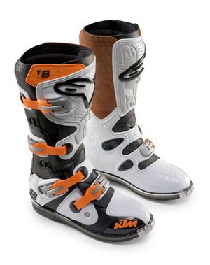 aomcmx alpinestars tech  boots ktm white