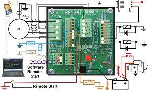 generator auto start circuit diagram generator controllers