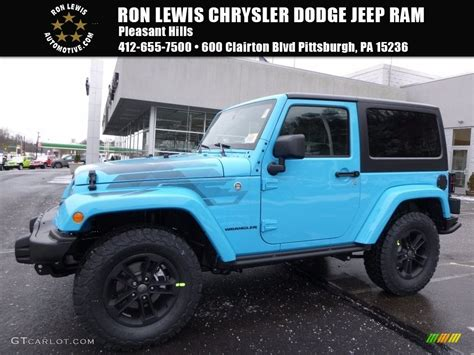 chief blue jeep 2017 chief blue jeep wrangler winter edition 4x4
