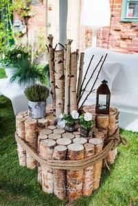 deco jardin diy idees originales et faciles avec objet de With delightful maison en rondin prix 11 deco jardin avec rondin de bois