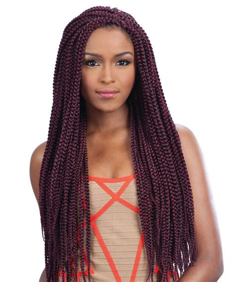 freetress crochet braid long medium box braid