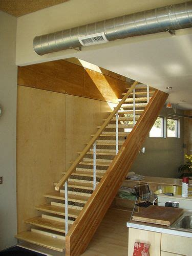 cool glulam stair industrial interior design stairs