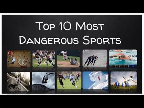 Top 10 Most Dangerous Sports Youtube
