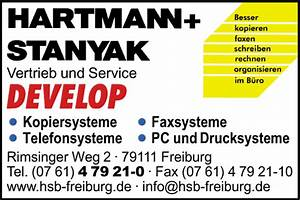 Hartmann Einrichtungen Freiburg : hartmann stanyak b rosysteme gmbh z hd herr lickert 79111 freiburg st georgen ~ Bigdaddyawards.com Haus und Dekorationen