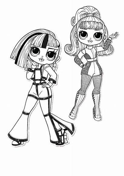 Omg Lol Coloring Pages Dolls Printable Colouring