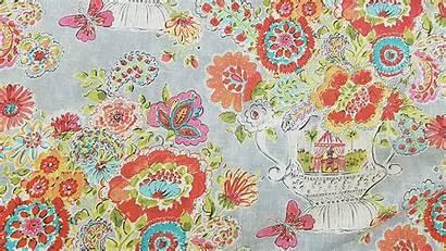 Fabric Waverly Drapery Sherbert Blissful Bouquet Yard