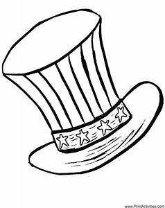 stars and stripes coloring pages - fourth of july coloring page patriotic hat