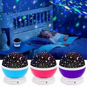 3, colors, led, star, projector, lamp, 360, degree, romantic, rotating, night, cosmos, star, sky, moon