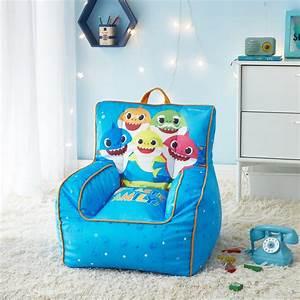 Baby, Shark, Toddler, Bean, Bag, Chair, Blue, -, Walmart, Com