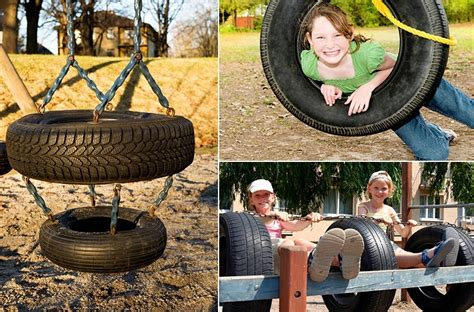 playground  recycled tires