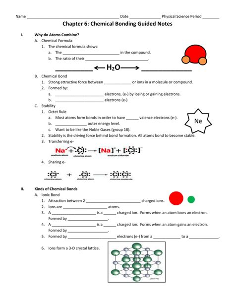 chapter 6 chemical bonding worksheet answers the large