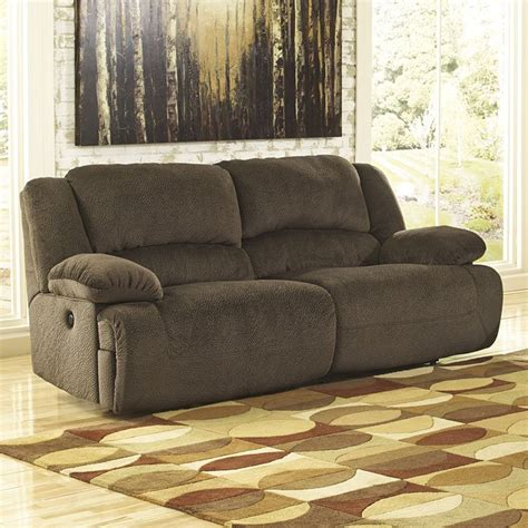 toletta chocolate reclining power sofa signature design