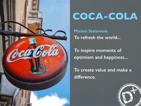 coca cola mission statement  refresh