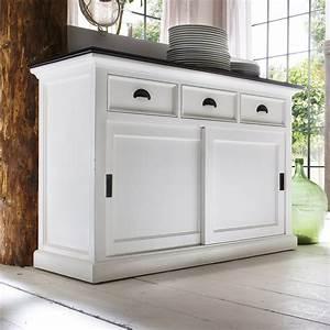 halifax contrast buffet table sliding doors pure white With buffet table with sliding doors