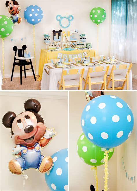 creative 1st birthday party ideas baby digezt creative mickey mouse 1st birthday party ideas free
