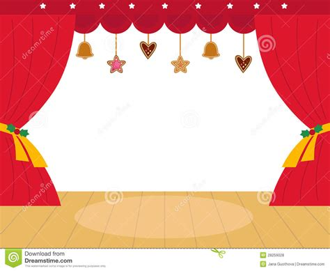 colorful christmas theatre podium royalty  stock